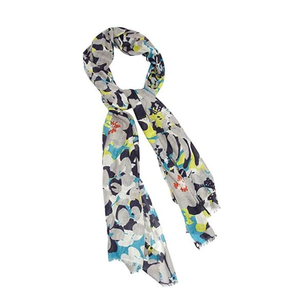 Kinross Cashmere Floral Print Scarf