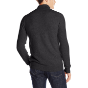 Black cashmere full zip sweater – back