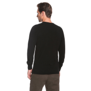 Black V-neck cashmere sweater – back