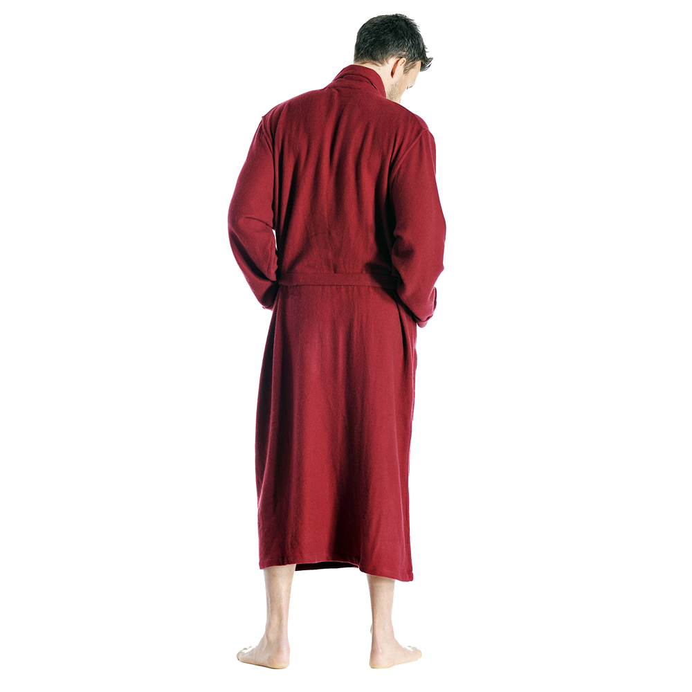 1e361ec420 Red cashmere robe – side Red cashmere robe for man – back