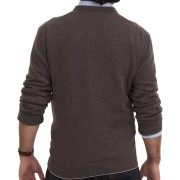 Brown Cashmere Crewneck Sweater