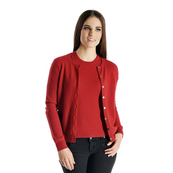 Cardigan-sweater twin set – Red