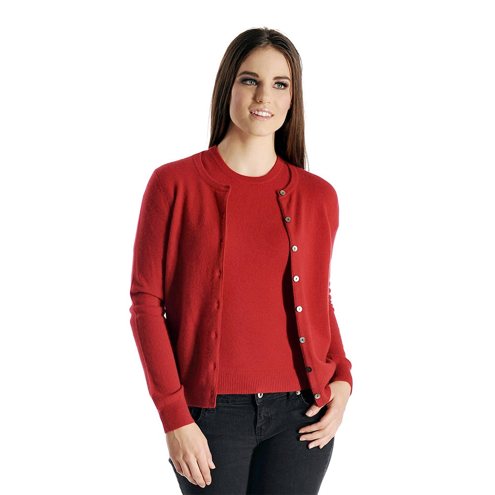 Pure Cashmere Cardigan Twin Set for Women