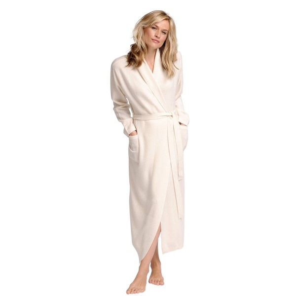 Elizabeth Cotton Women's Cashmere Robe – Cream