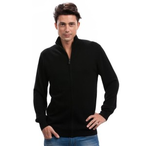 Mens black cashmere cardigan