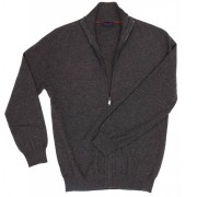 mens cashmere cardigan zippered