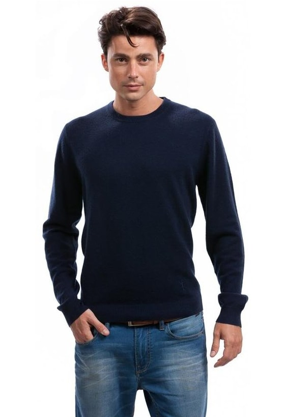 Men's Crew Neck Sweater - Citizen Cashmere