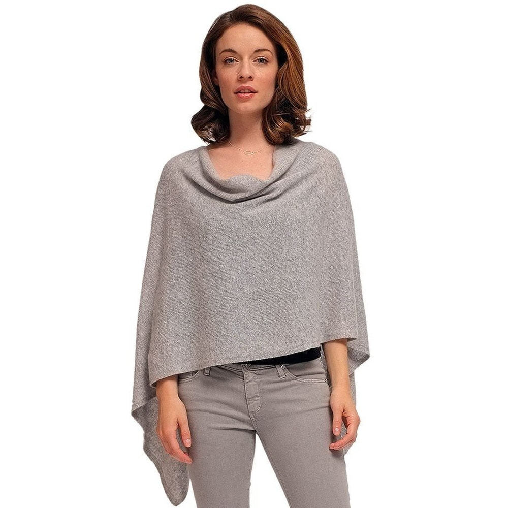 d81be9e1a 2 Ply Cashmere Poncho - One Size, More Colors - Cashmere Mania