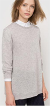 Womens generously cut cashmere sweater