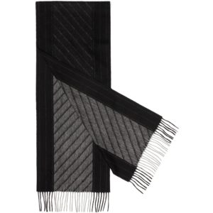 Mens long cashmere scarf - black