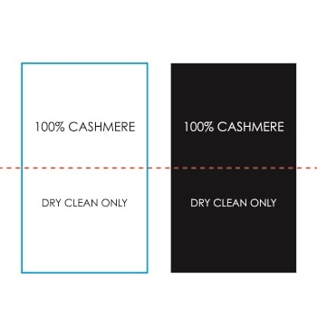 100% Cashmere Product Label