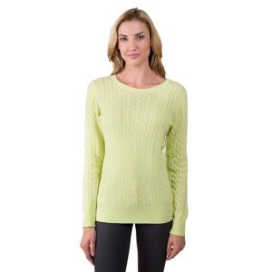 JENNIE LIU cashmere long sleeve sweater for women