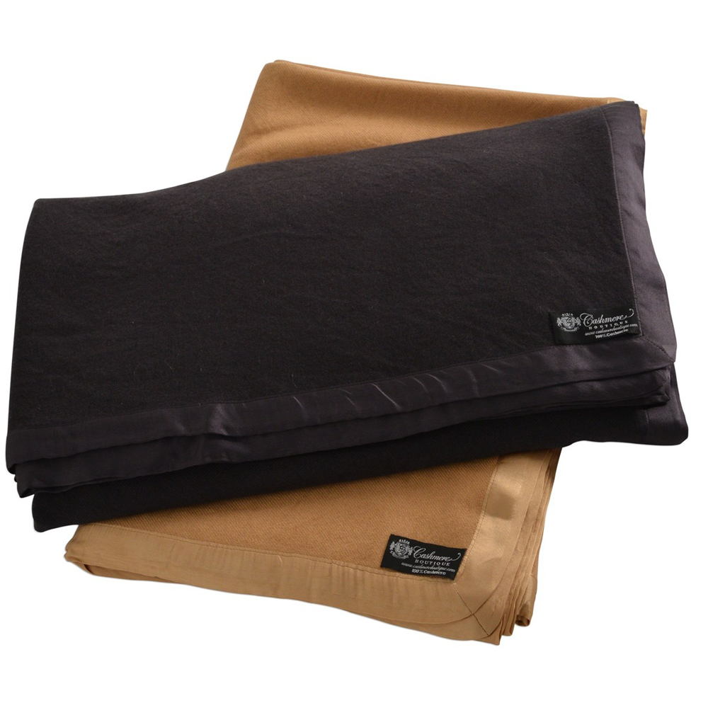 King Size Cashmere Blanket 4 Ply Amp 6 Colors
