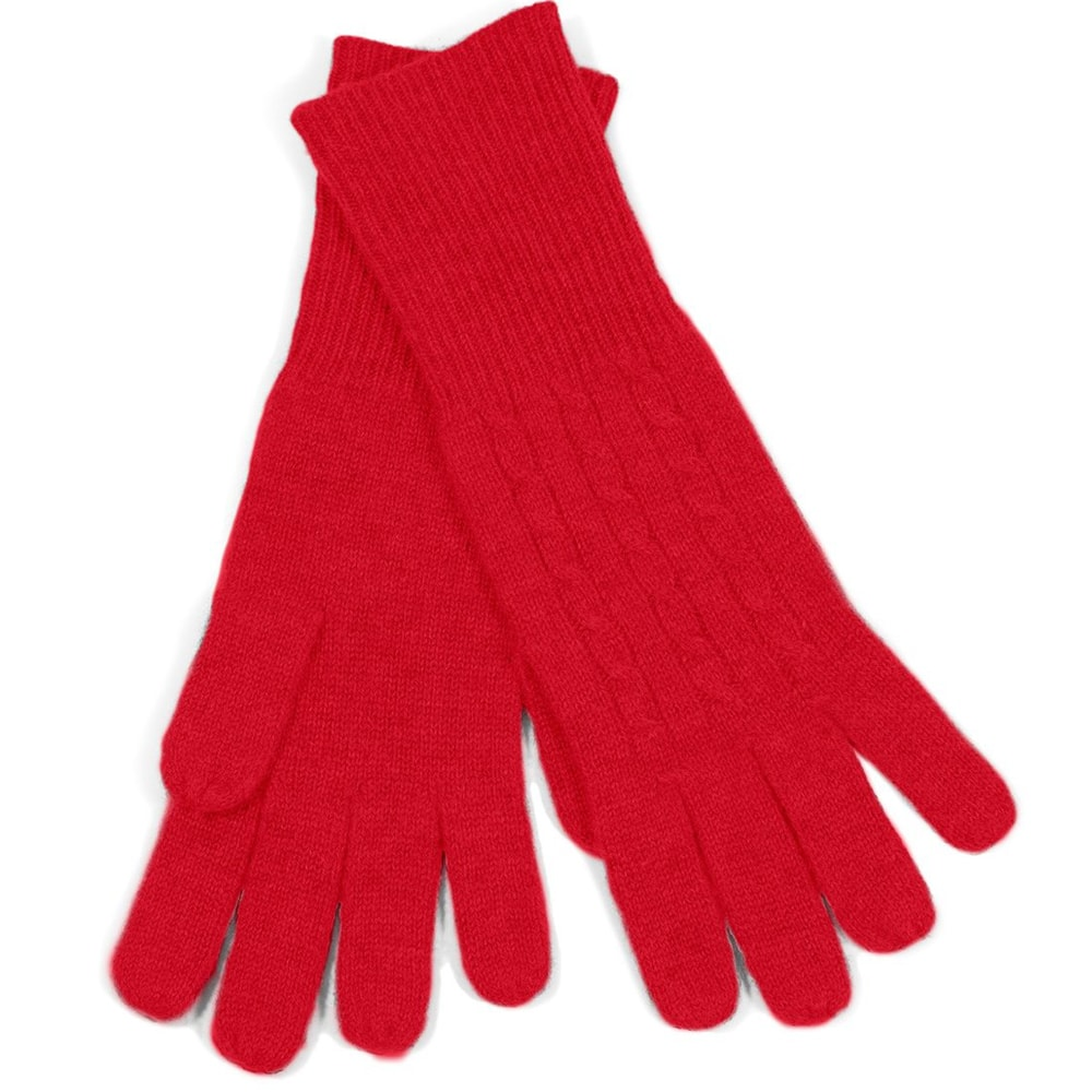 Completely new 100% Cable Knit Cashmere Gloves in More Colors EA47