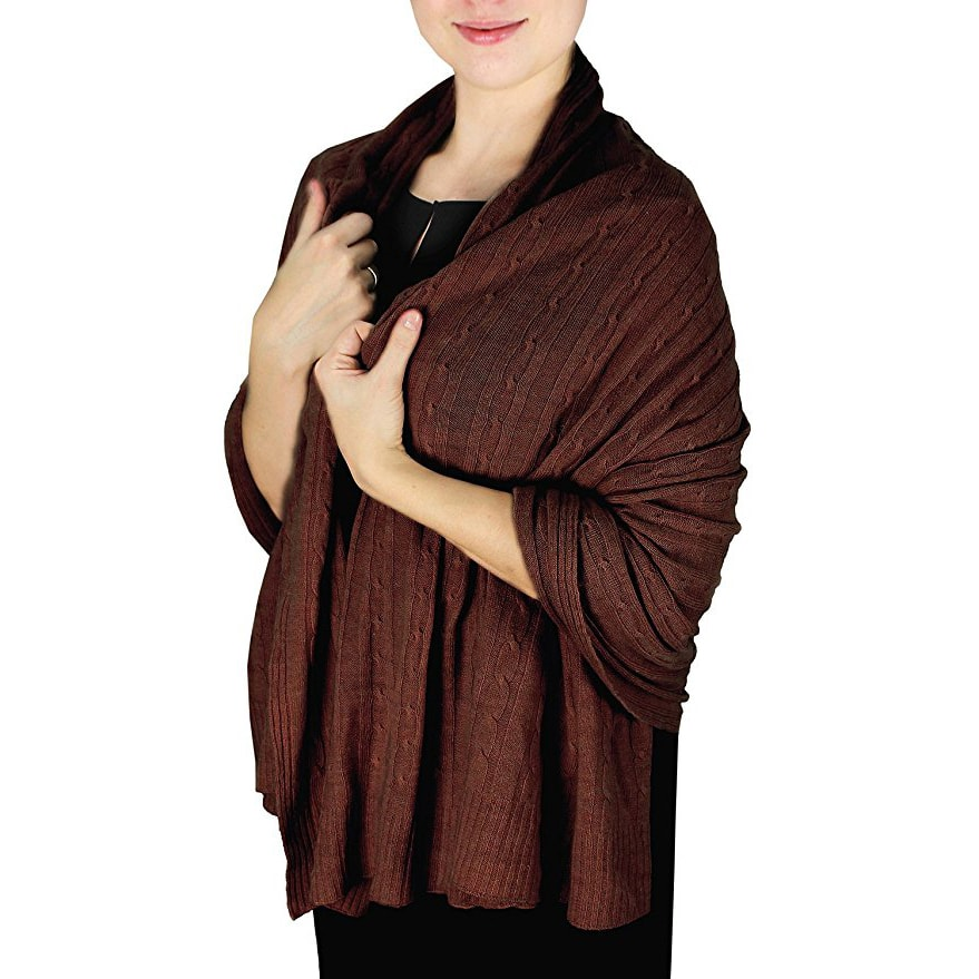 Soft Amp Warm Cable Knit 100 Cashmere Shawl Cashmere Mania